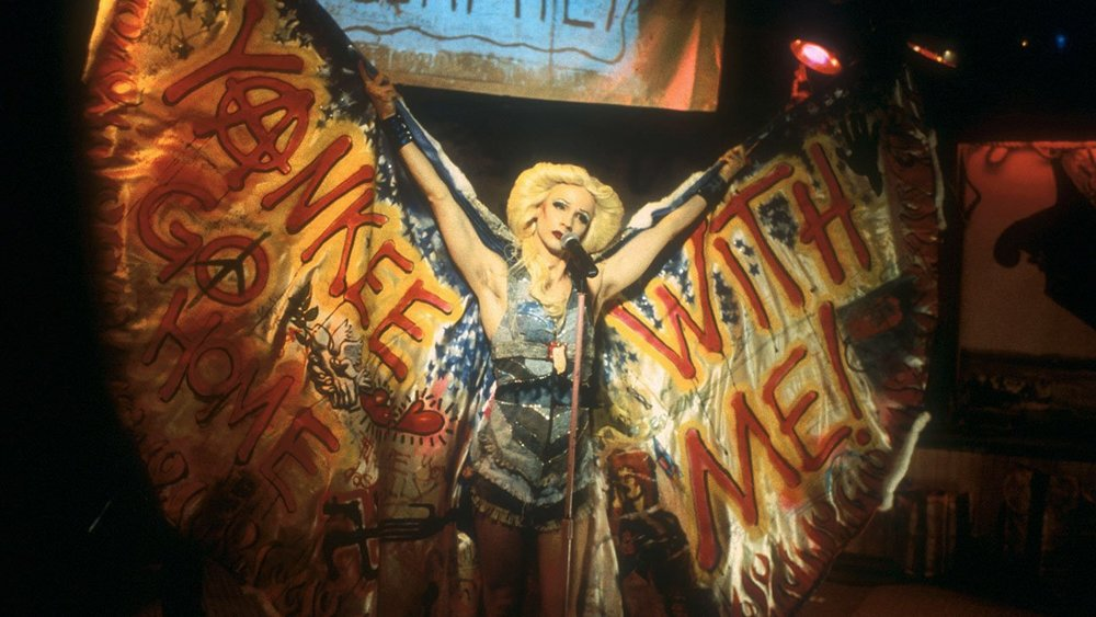HEDWIG AND THE ANGRY INCH (2001) A transgender punk-rock girl from East Berlin tours the U.S. with her band as she tells her life story and follows the former lover/band-mate who stole her songs.