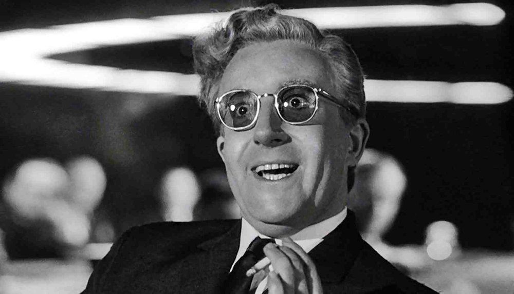 DR STANGELOVE (1964) An insane general triggers a path to nuclear holocaust that a war room full of politicians and generals frantically try to stop.
