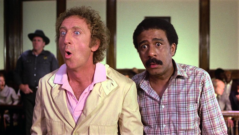 STIR CRAZY (1980)   Set up and wrongfully accused, two best friends will be sent to prison for a crime they didn't commit, however, no prison cell can keep them locked in.