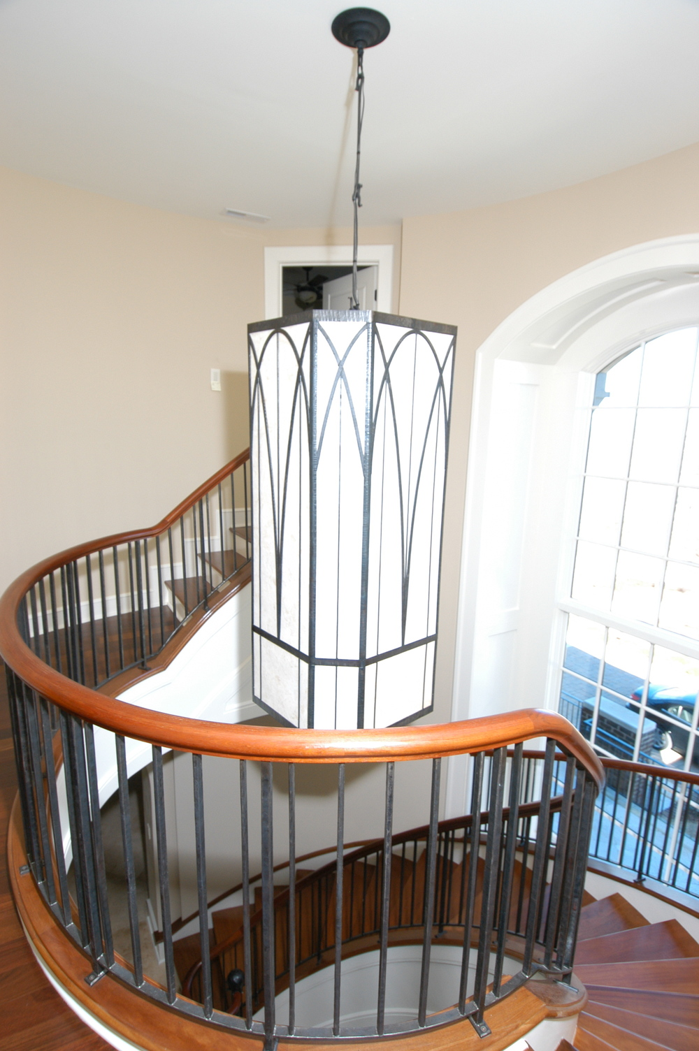 Steel and Glass chandelier