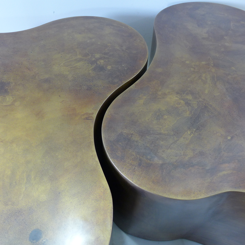 Bronze Table with Patina
