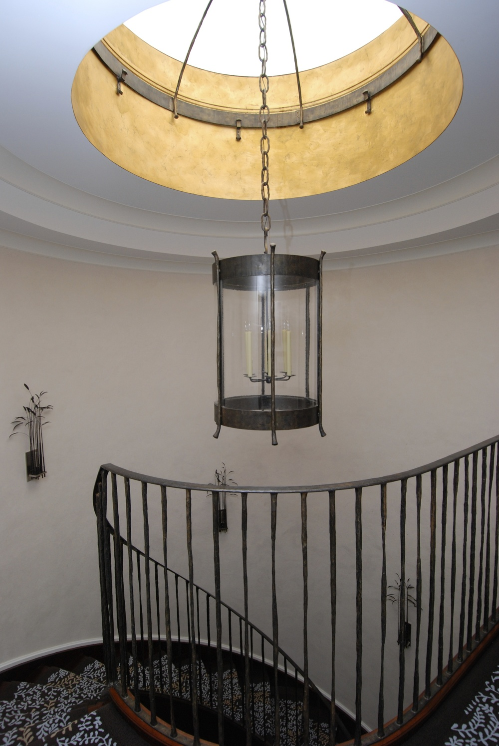 Steel chandelier