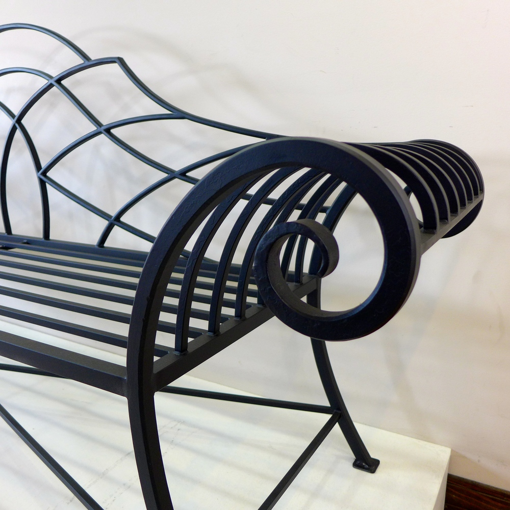 Steel Garden Bench (Black)