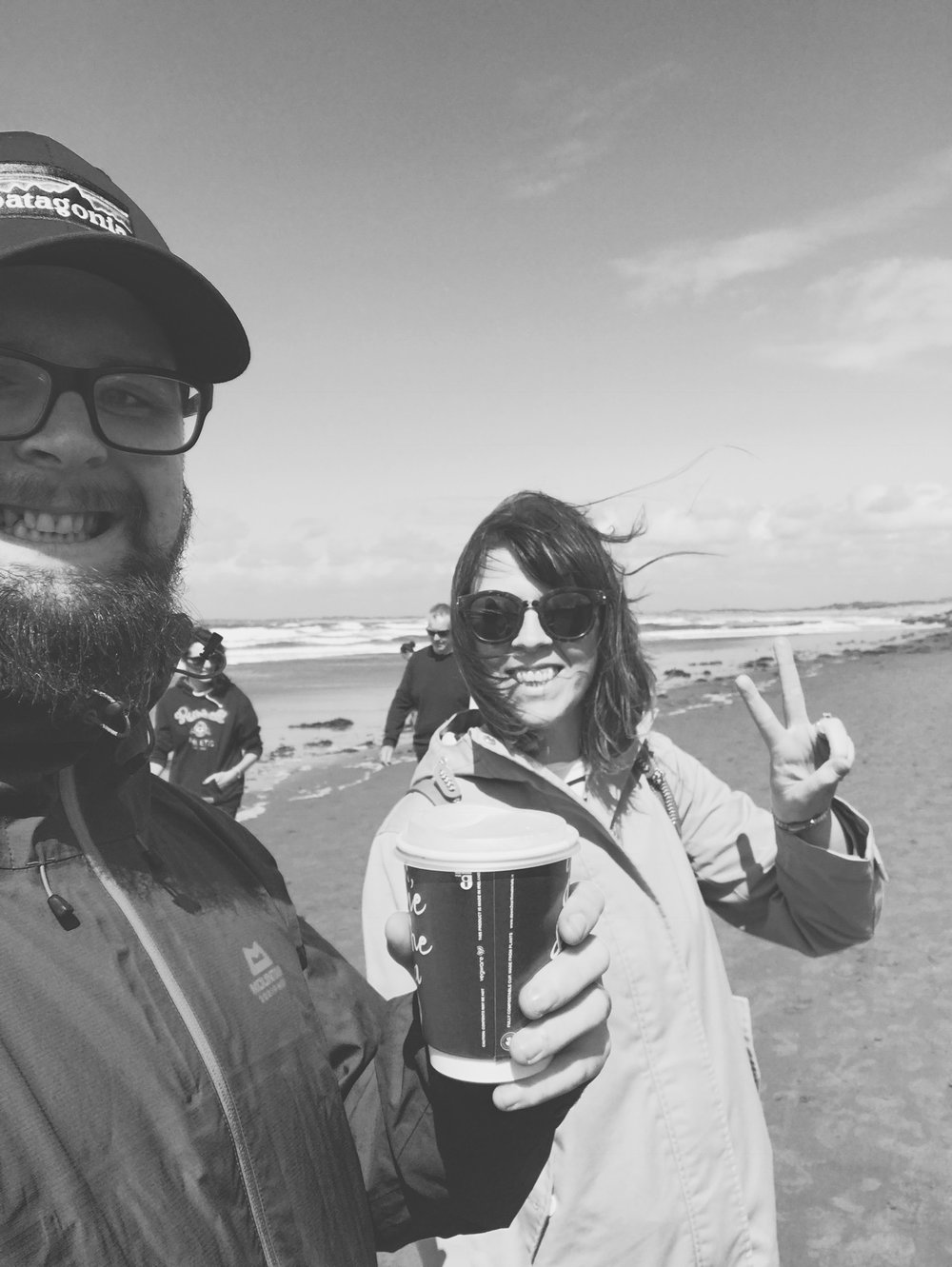 Bro-in-law @ianvennard selfie @ Strandhill