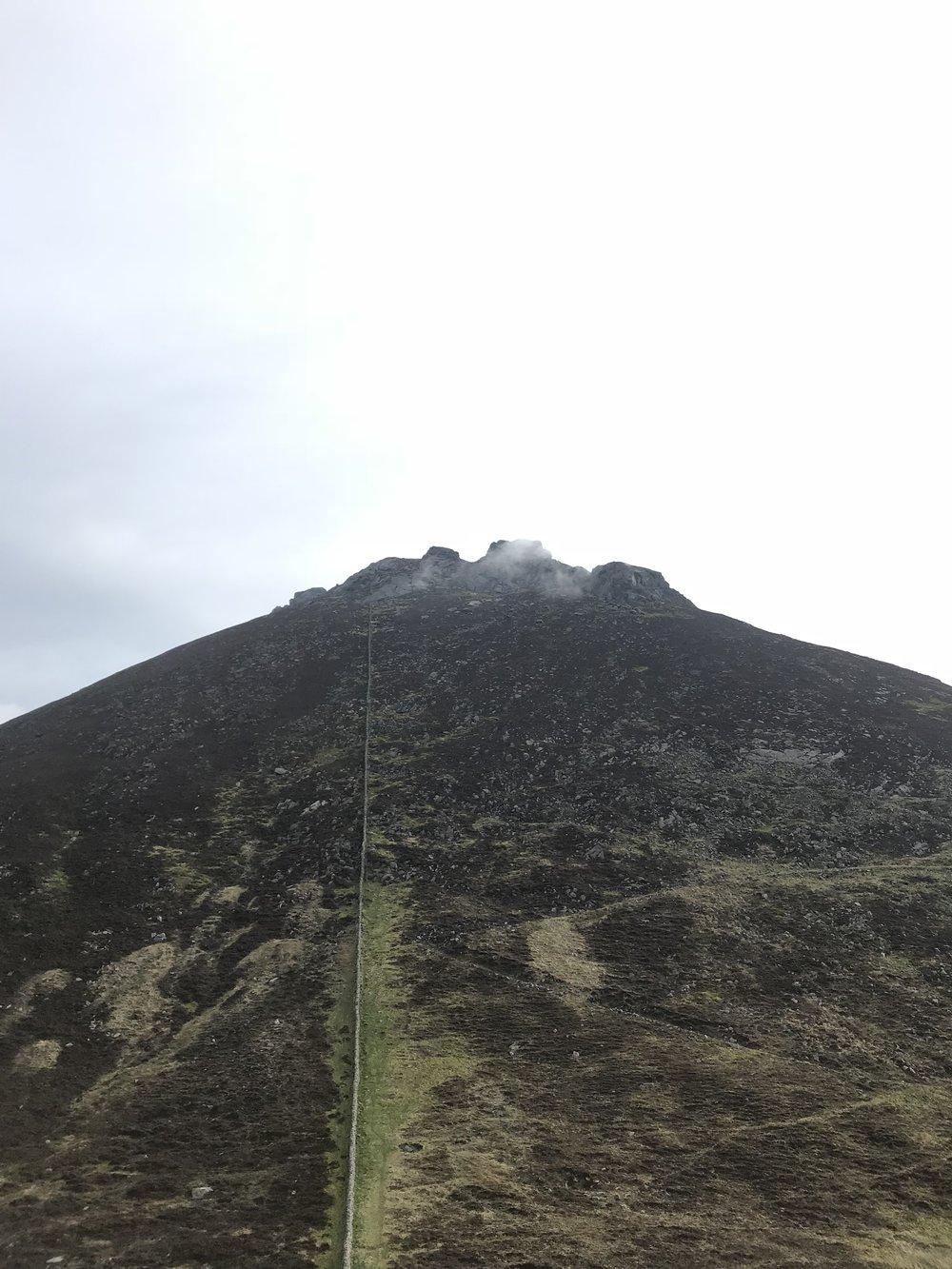 View of Slieve Binnian from Wee Binnian