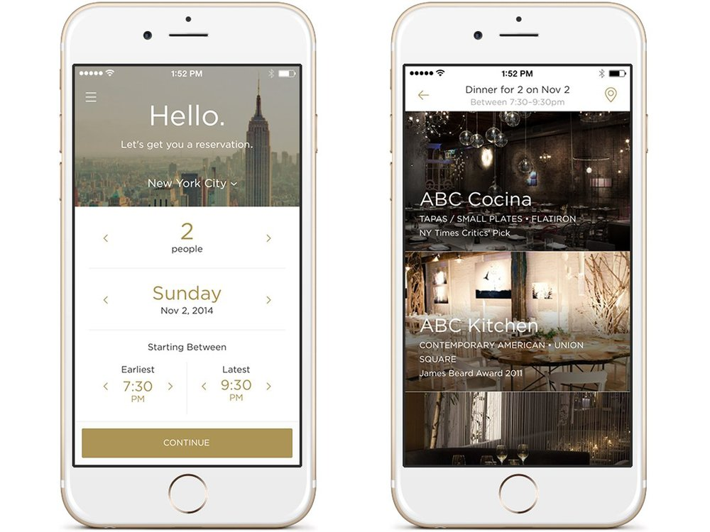 Acting as a personal dining concierge, Reserve helps you find a table at top restaurant in your area. You can even use the app to pay your tab.