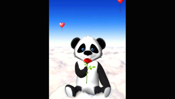 A definite contender for favorite V-Day app so far. Talking Panda Mime Love Letters allows you to send panda personalized Valentine's Day messages using your own voice recordings and face emotions and movements!
