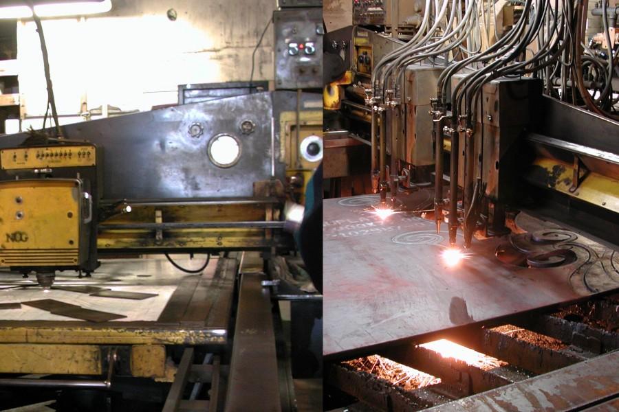 Ganged torch cutting machine