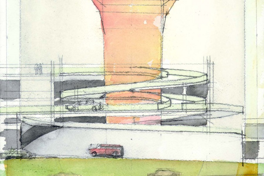 SeaTac RCF ramp form concept to extend height