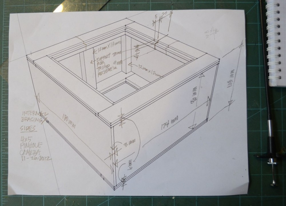 SketchUp Drawing  Here is a drawing that was the start of the 4x5 camera build. See the blog for more images and explanation of the process.