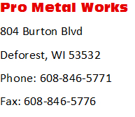 Contact Us Pro Metal Works - Us metalworks map