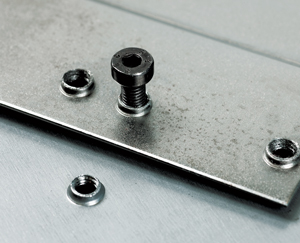 Sheet metal extruded tapped holes are possible, it may eliminate weldnuts or pem nuts.