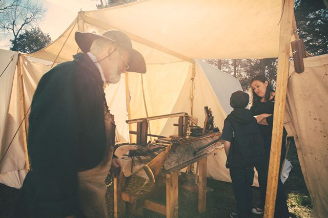 #ICYMI A gunsmith at The War of 1812 Military Encampment at Andrew Jackson's Hermitage. #7thPresident