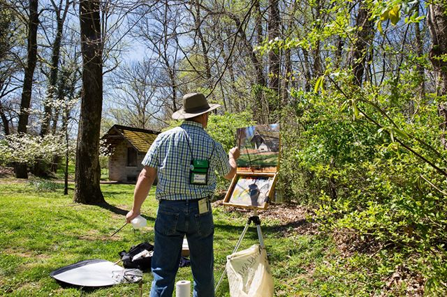 "Don't miss the Chestnut Group at the Hermitage today until 3p as part of a ""Wet Paint"" competition. The Chestnuts at the Hermitage Art Exhibition and Sale will be at The Hermitage on 4/21 and 4/22 from 9a - 5p. Visit www.thehermitage.com for more information. #AJ250 #7thPresident #ChestnutsattheHermitage"