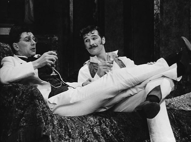 ALGERNON IN THE IMPORTANCE OF BEING EARNEST, OLDHAM, 1987 (WITH MALCOLM SCATES)