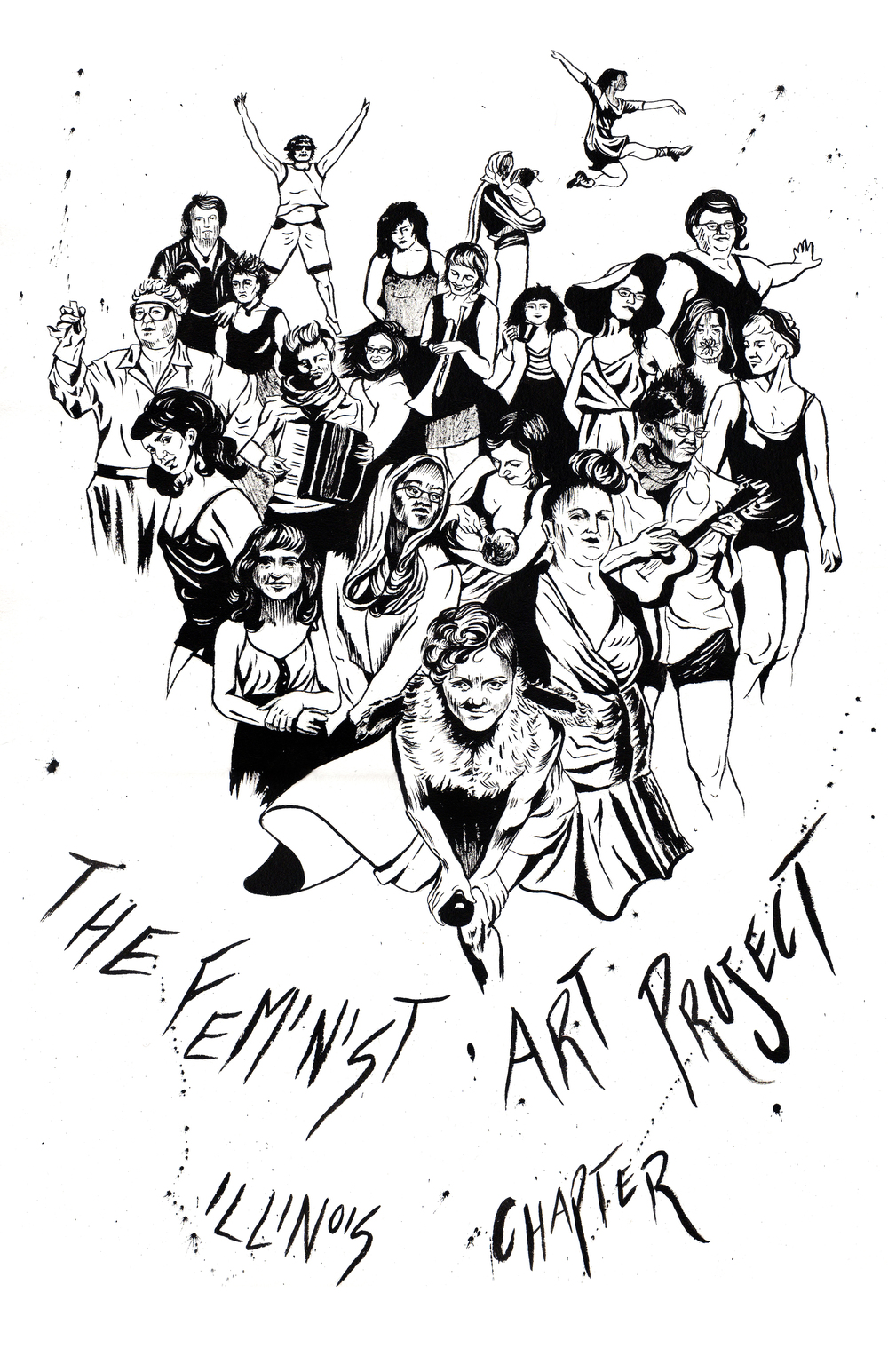 The Feminist Art Project, Illinois Chapter, poster design