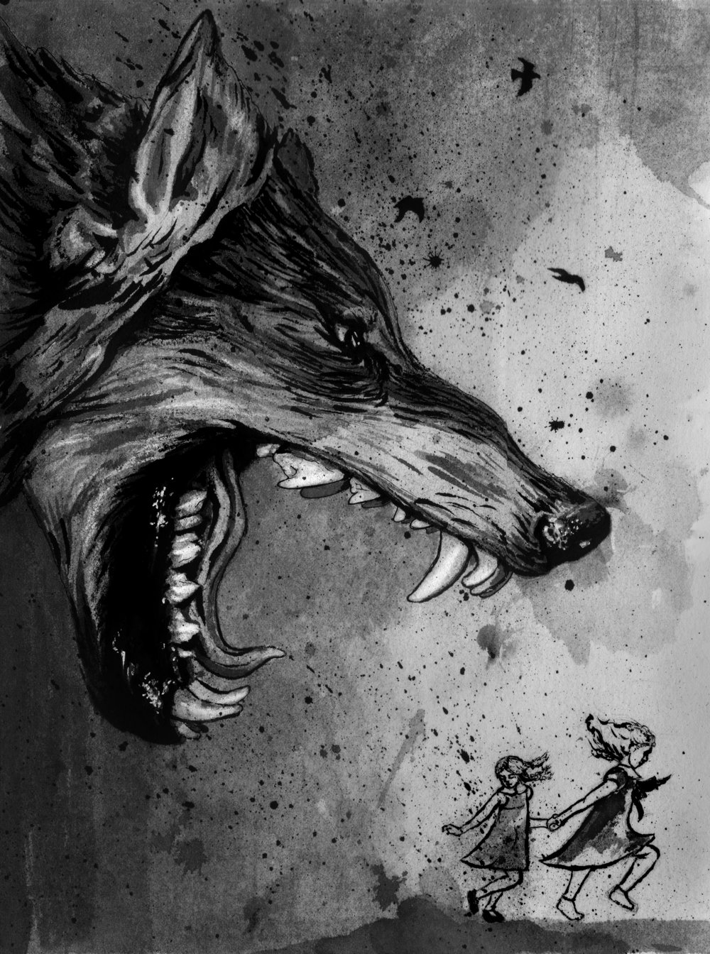 """The Wolf"", interior illustration"