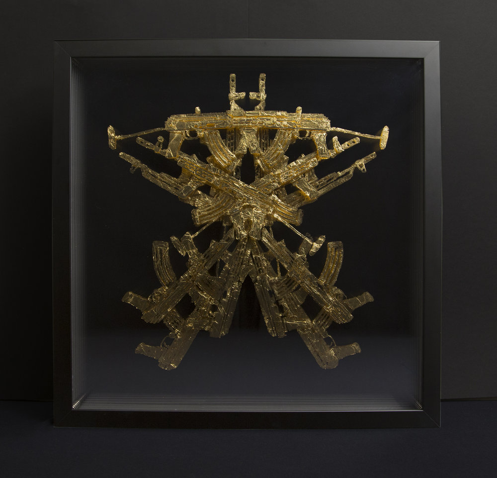 postcolombino 17_ 53 x 53 x 6 cm_ gold leaf on plexiglass_ 2016 .jpg
