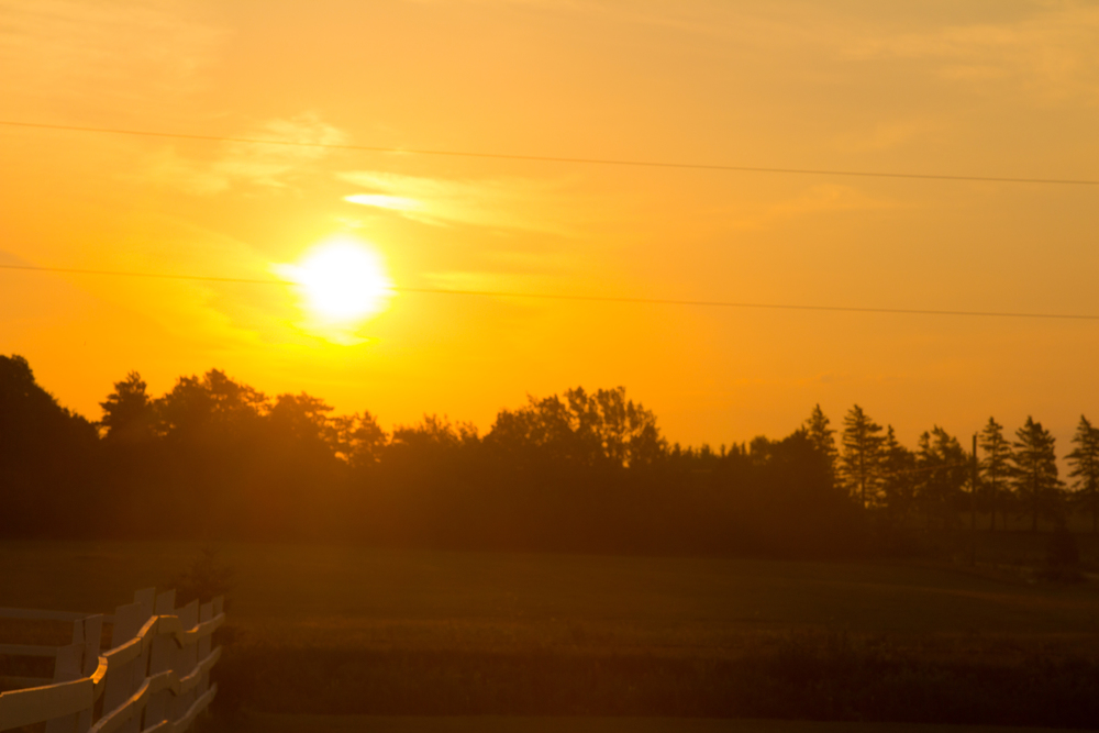 Sunrise near Brackley PEI