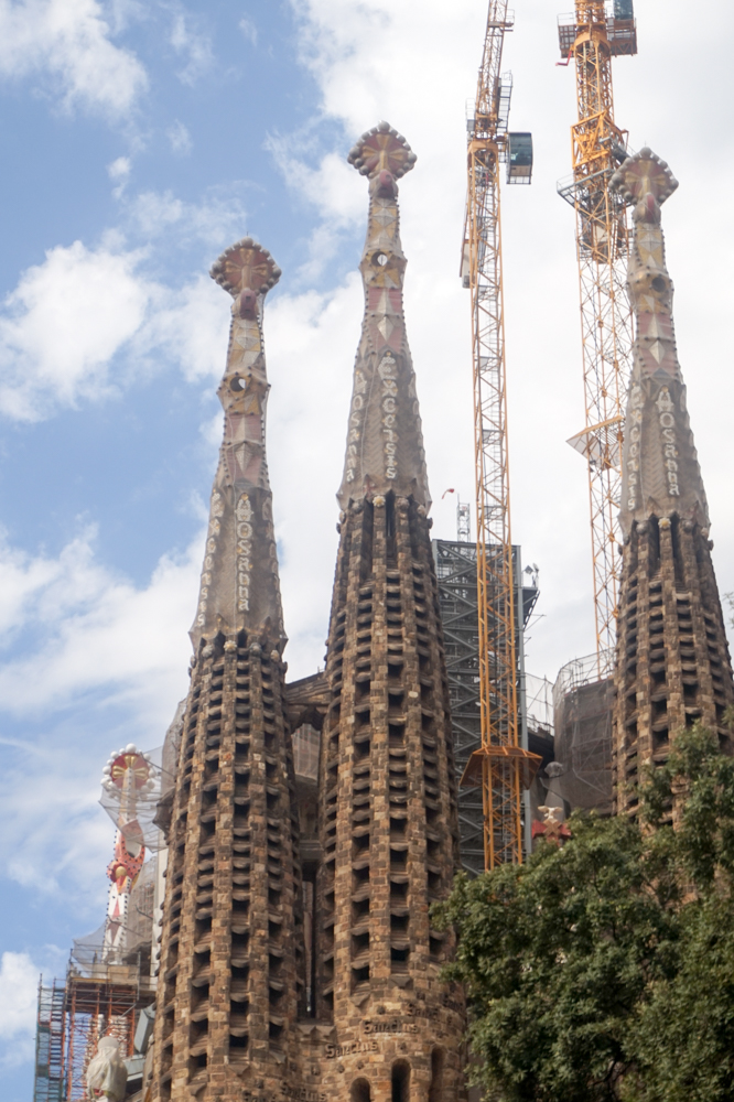 The Sagrada Familia. Still being built today.