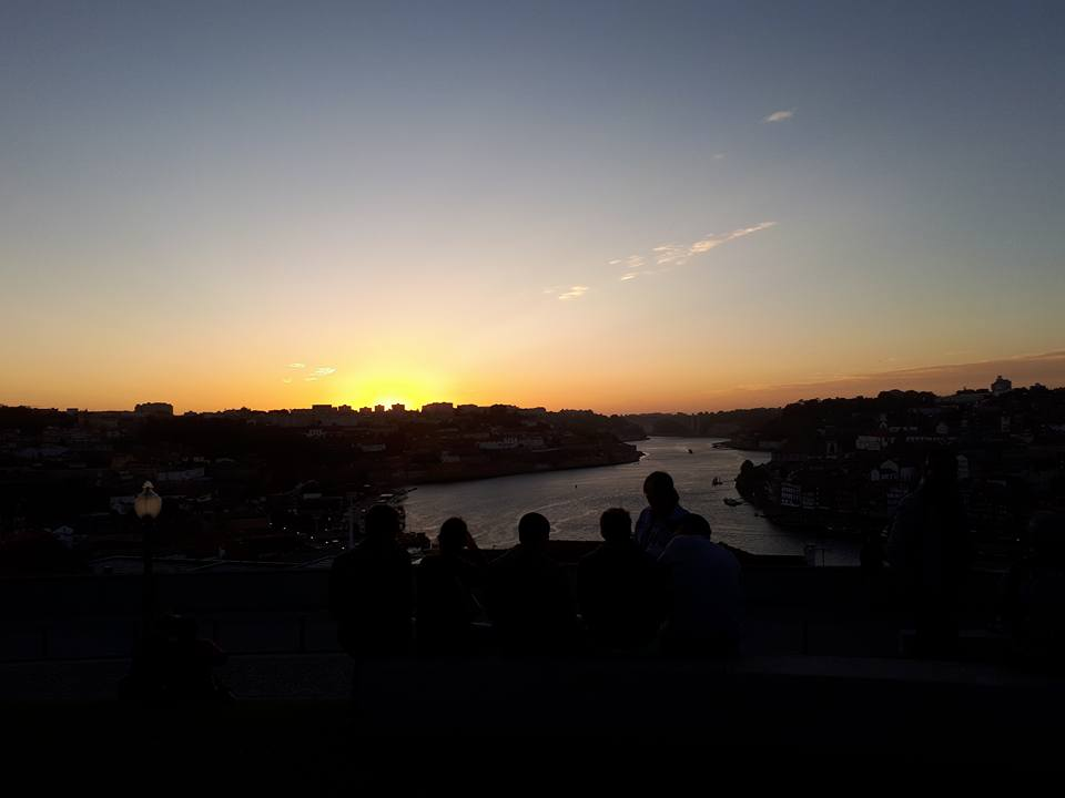 Taken with my phone. A sunset in Porto, Portugal