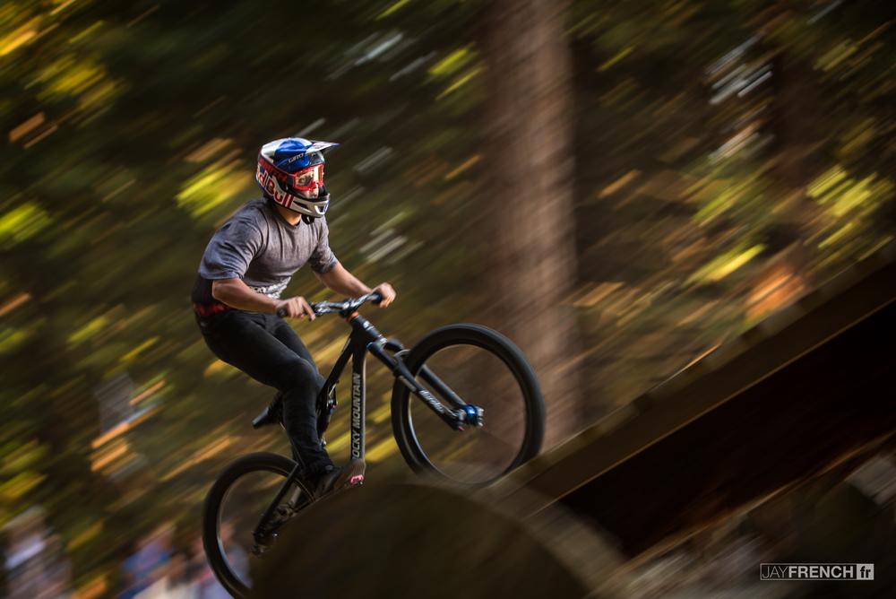 Carson Storch on the boner log.