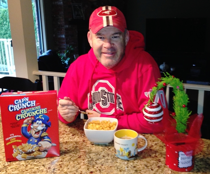 The Tomster is celebrating American Thanksgiving once again this year with his annual bowl of Captain Crunch! (The best breakfast cereal on the planet.😁)