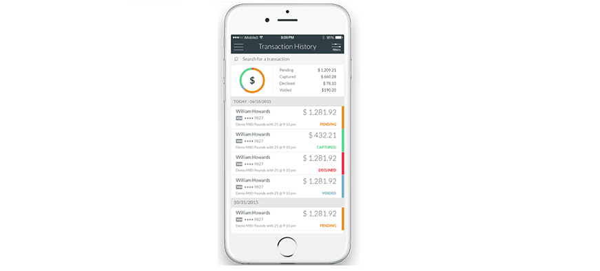 CardPointe Mobilesupports signature capture, cash and card transactions, voids, refunds, sales tax and tips. CardPointe Mobile is enterprise-ready and configurable to support merchants of all sizes—all backed by CardConnect's superior transaction data security.
