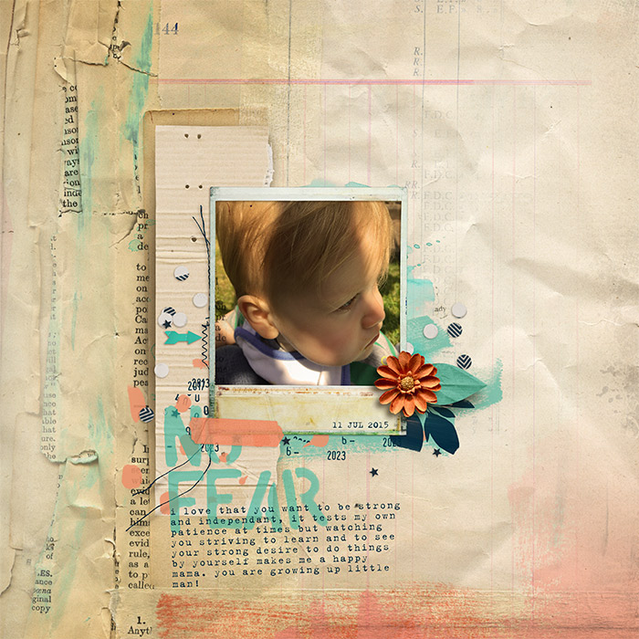 Digital Scrapbook Layout using Products by Captivated Visions
