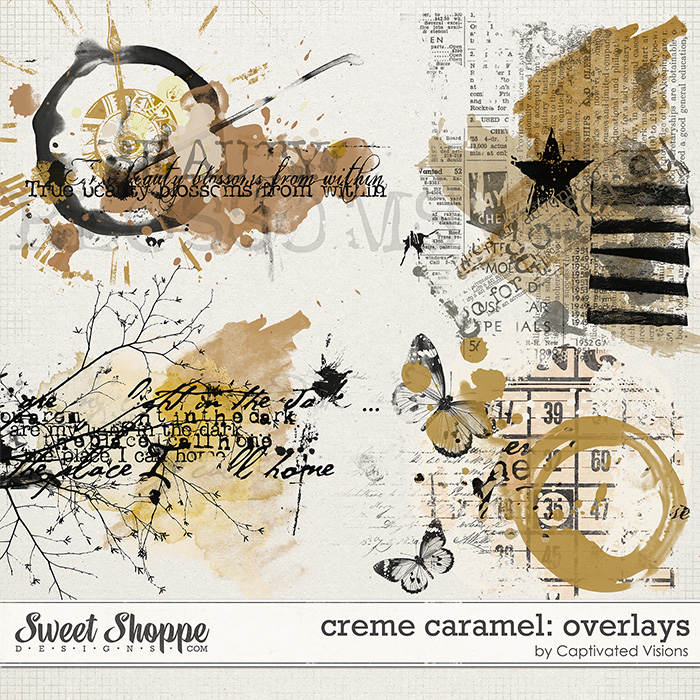 Creme Caramel Digital Scrapbook Product by Captivated Visions