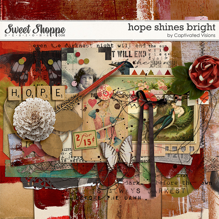 Hope Shines Bright Digital Scrapbook Kit by Captivated Visions