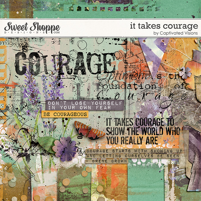 It Takes Courage Digital Scrapbook Kit by Captivated Visions