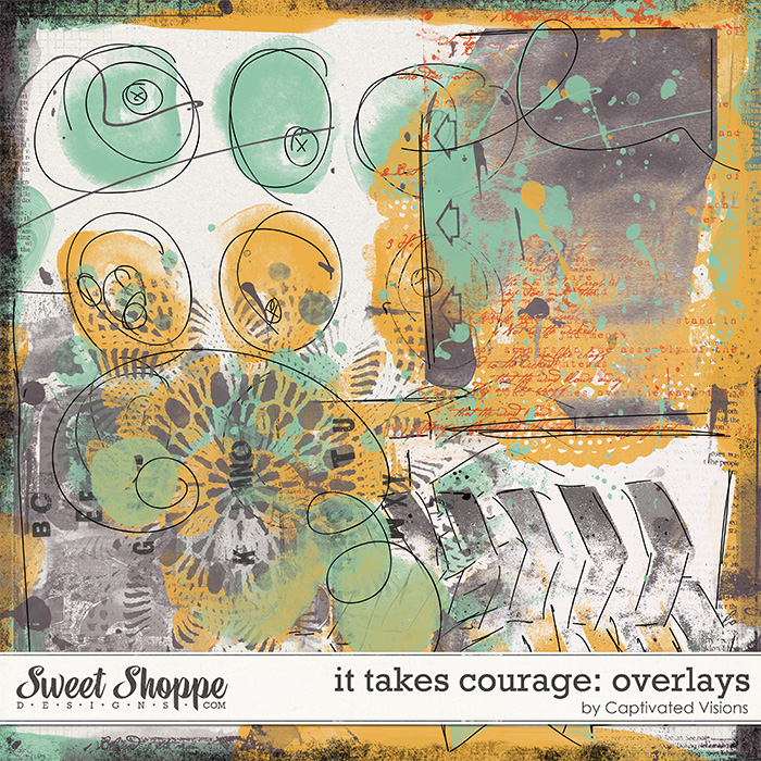 It Takes Courage Digital Scrapbook Product by Captivated Visions
