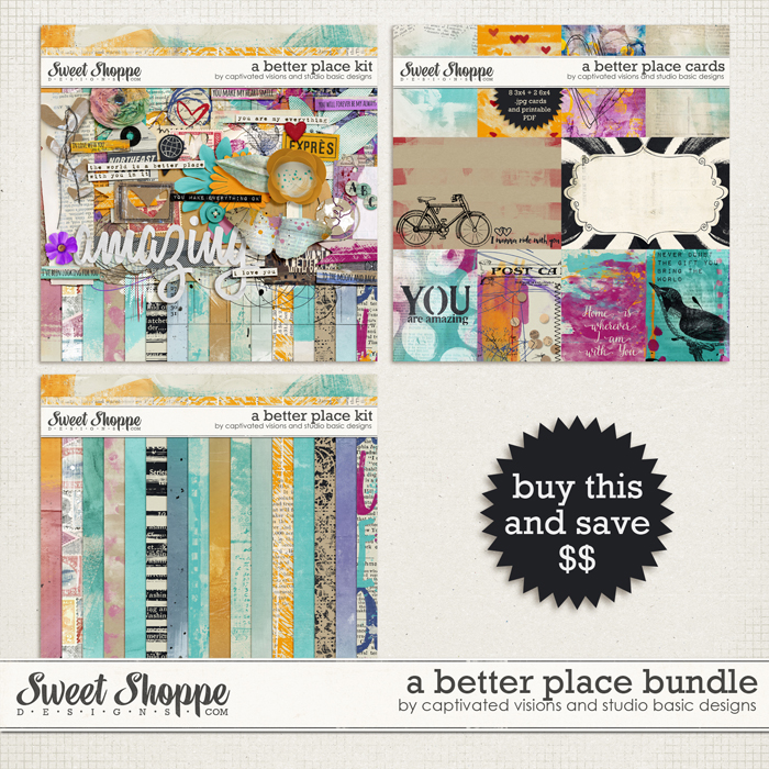 Digital Scrapbooking Kit by Captivated Visions