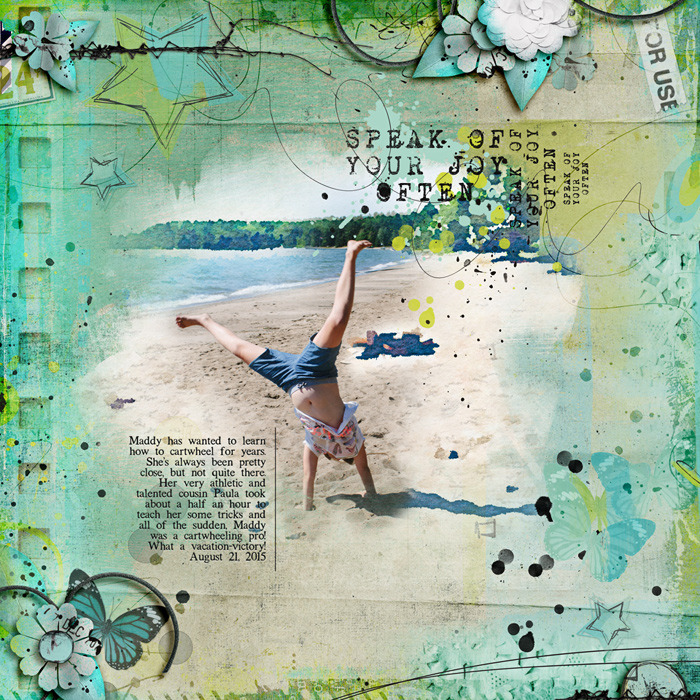 Digital Scrapbook Layout using Products by Captivated Visons at Sweet Shoppe