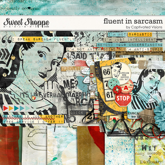 Digital Scrapbook Kit by Captivated Visions at Sweet Shoppe