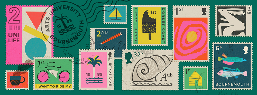 Stamps Banner by Natasha Durley
