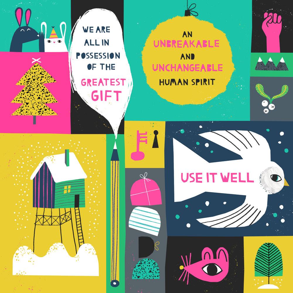AUB Christmas Card by Natasha Durley