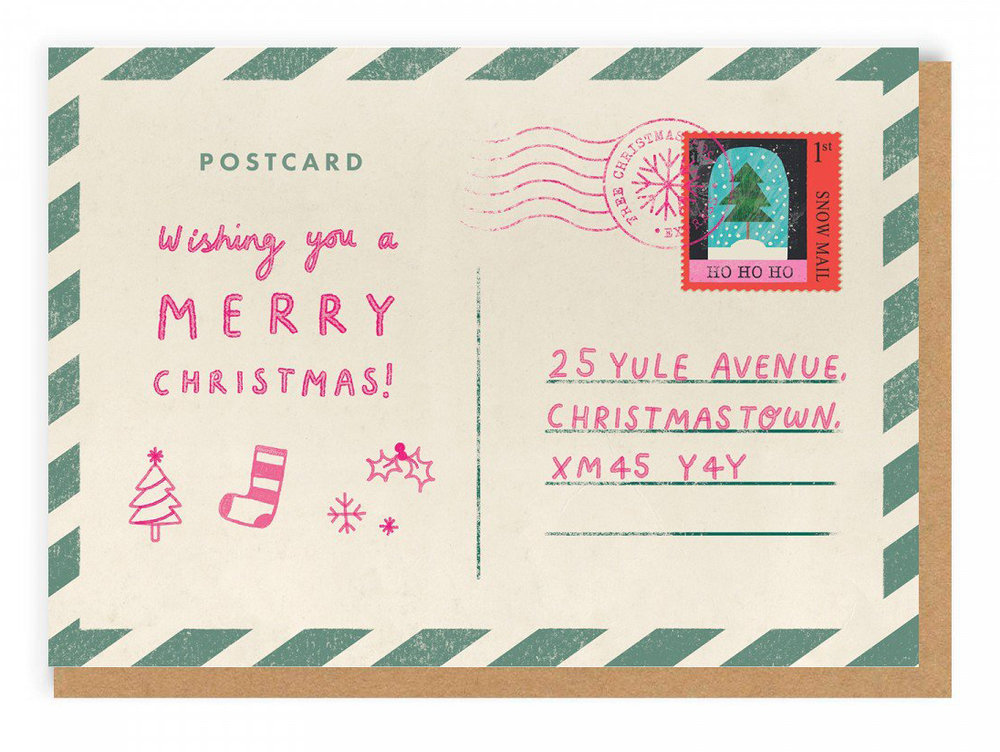 Christmas Postcard Greeting Card by Natasha Durley.jpg