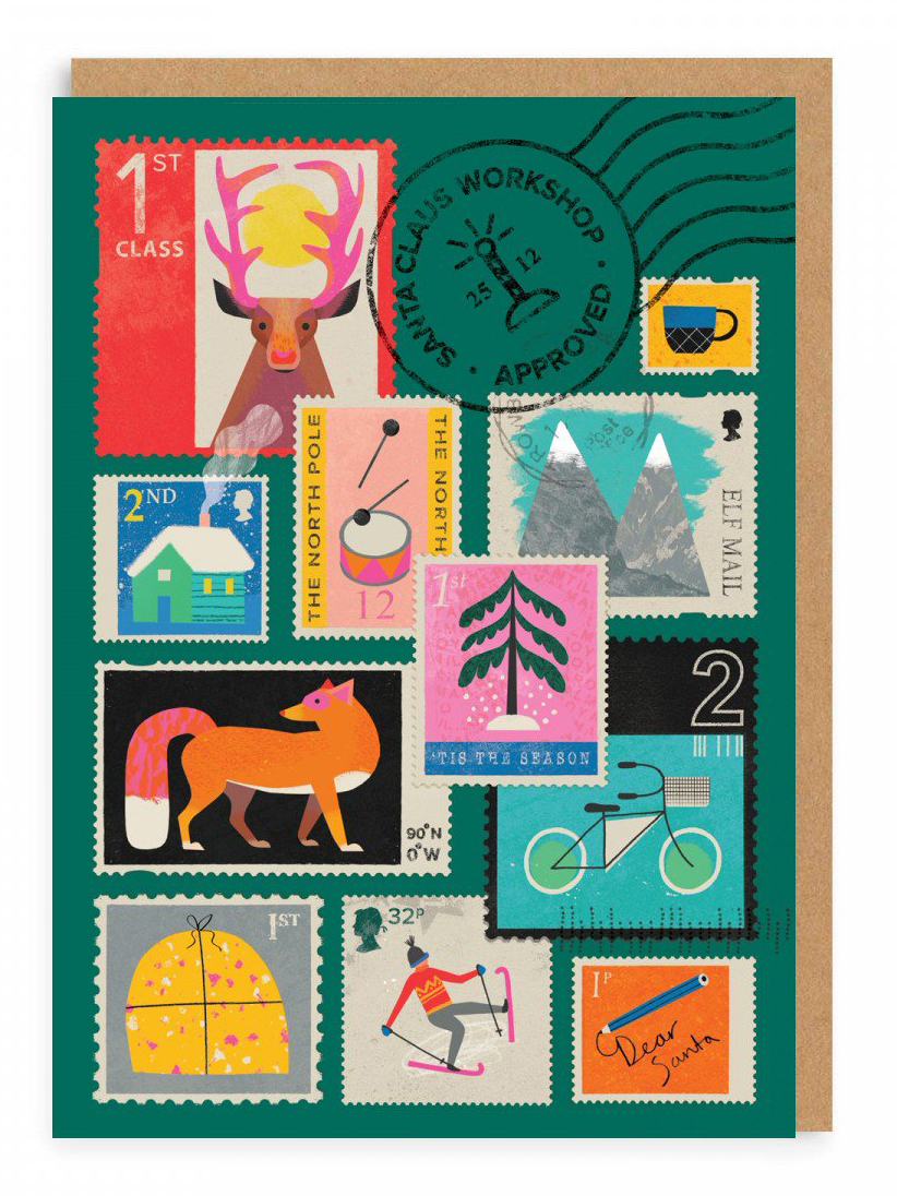 Christmas stamps greeting card by Natasha Durley .jpg
