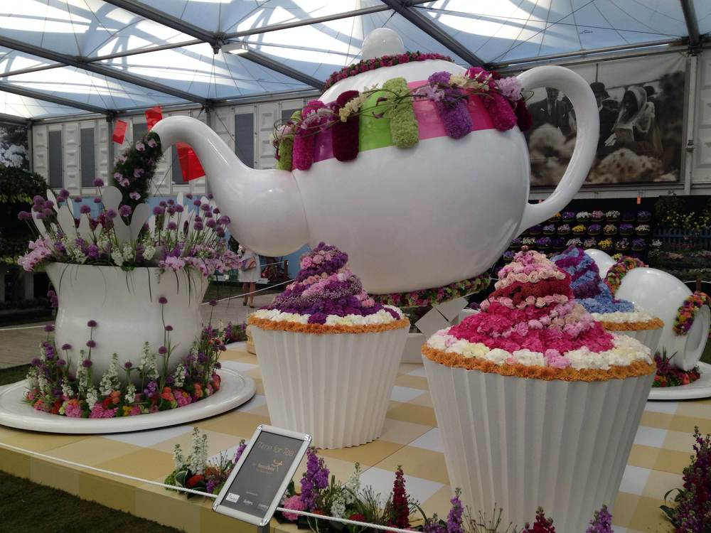 Interflora's whimsical tea party display