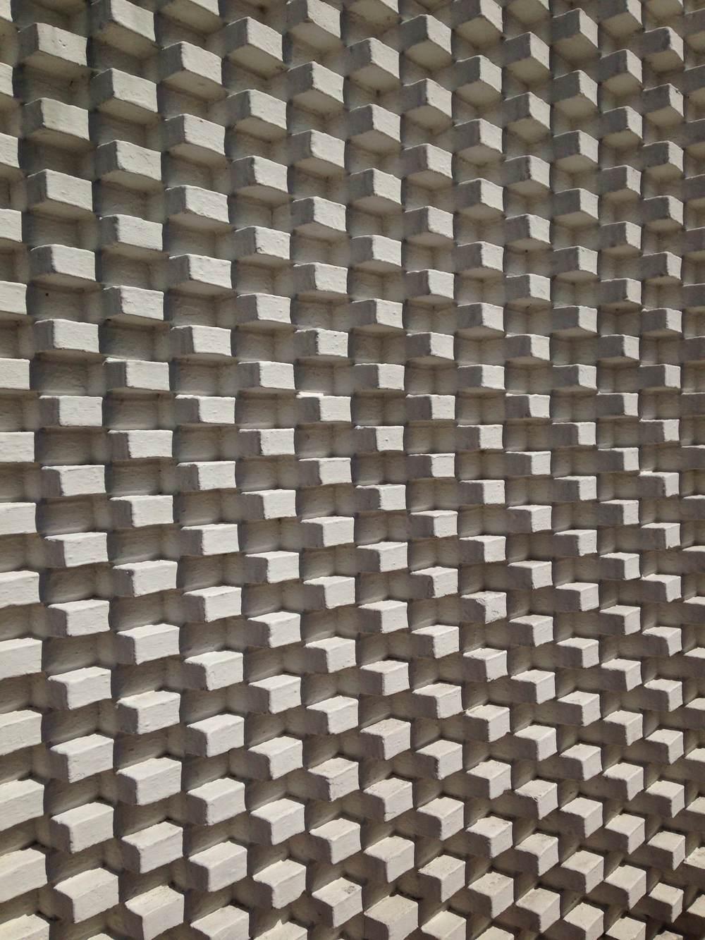 Close up of a brick wall at Louisiana