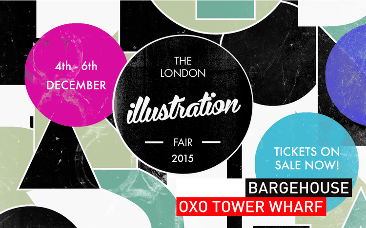 South Bank here I come! (Image is the property of The London Illustration Fair)