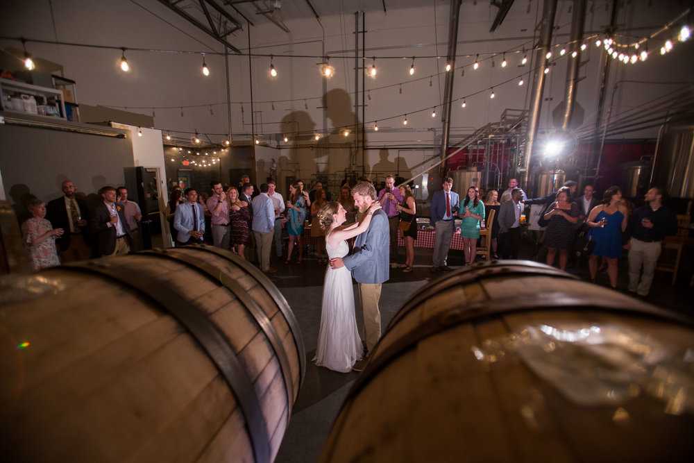 Wedding in the brewery!