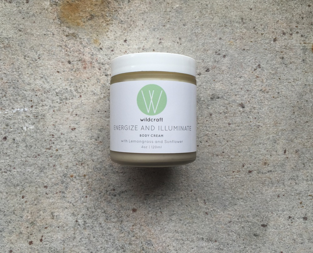 Wildcraft's Lemongrass Body Cream is housed in a frosted 8 oz./240ml jar. The Body Cream retails for $27.