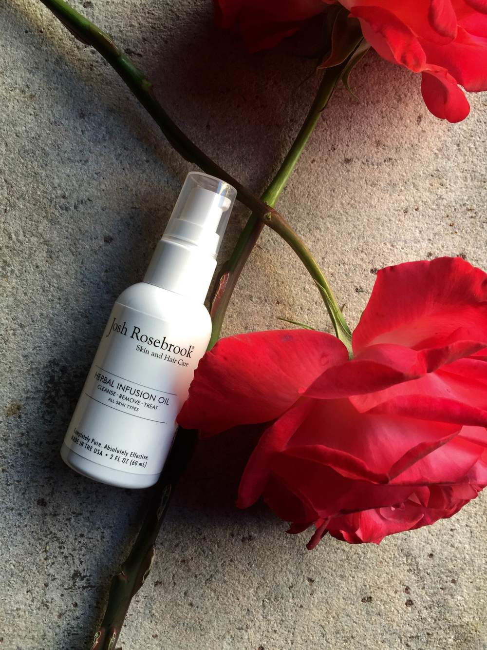 Josh Rosebrook's Herbal Infusion Oil is housed in a 2 fl. oz. (60 ml) white plastic bottle with a pump. The Herbal Infusion Oil retails for $44. Josh Rosebrook sent me the Herbal Infusion Oil and Nutrient Day Cream Tinted with SPF 30 Non-Nano Zinc Oxide for review consideration.