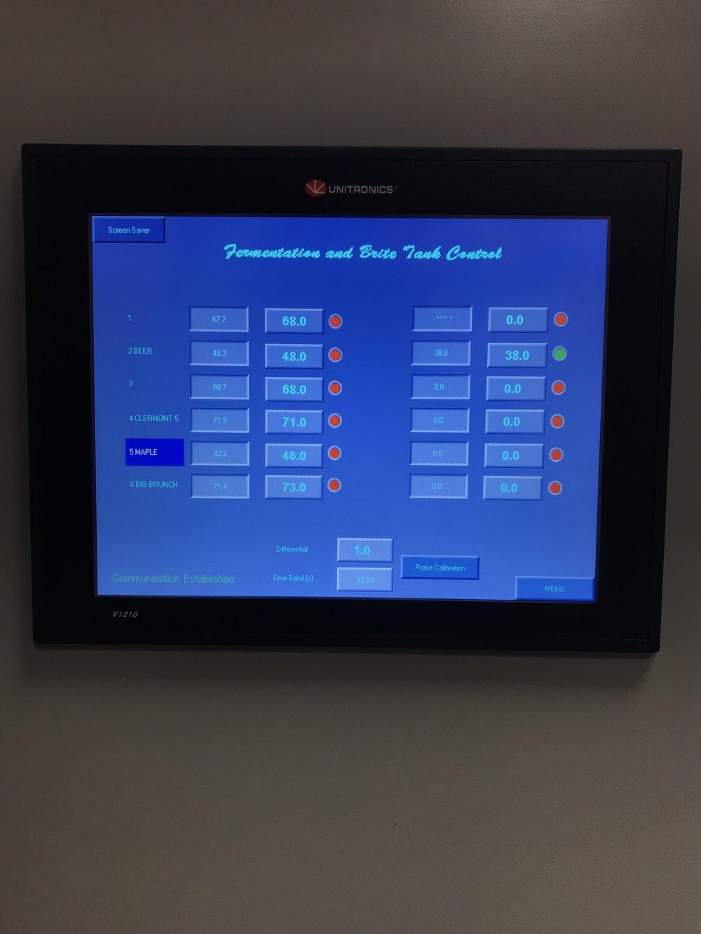 Brew Panel, Fermentation Control