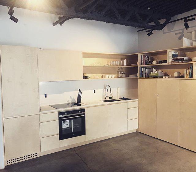 Simple birch kitchen for our friends @regenerationdesignstudio