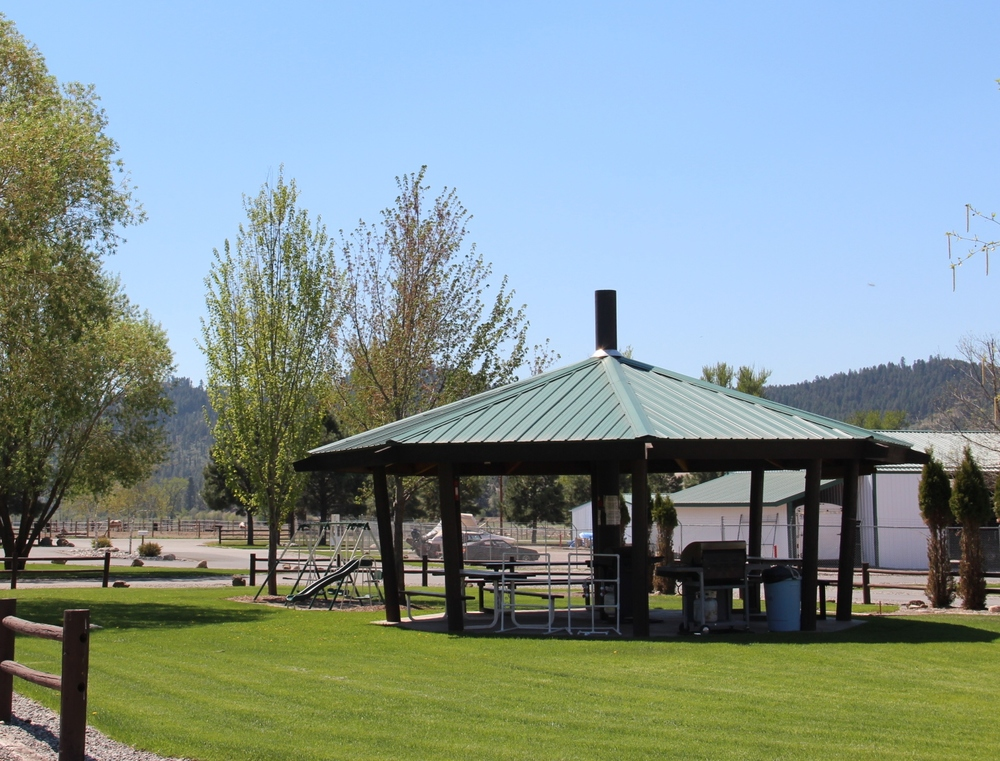Gazebo & playground area.