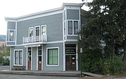 Ferry County's oldest standing wooden hotel, Ansorge Hotel Museum.
